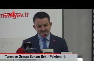 Bakan Pakdemirli'den Kahramanmaraş'a müjde!